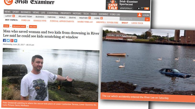 Pan Piotr wskazuje miejsce zdarzenia, fot. Irish Examiner /