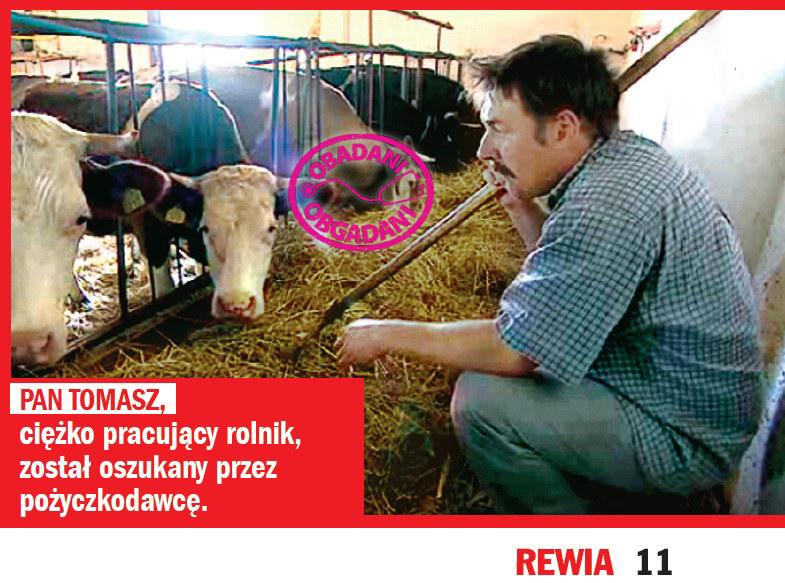 Pan Tomasz liczy na pomoc Olgierda Łukaszewicza /Rewia