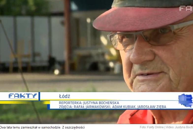 Pan Wirgiliusz Owczarek od dwóch lat mieszka w samochodzie. Powodem jest niska renta. /TVN24