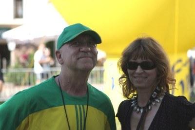 Pan Yapa z żoną Zuzą... /INTERIA.PL