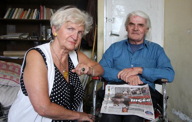 Pana Wojciecha wspiera jedynie siostra Elżbieta. Fot.Wojciech Traczyk