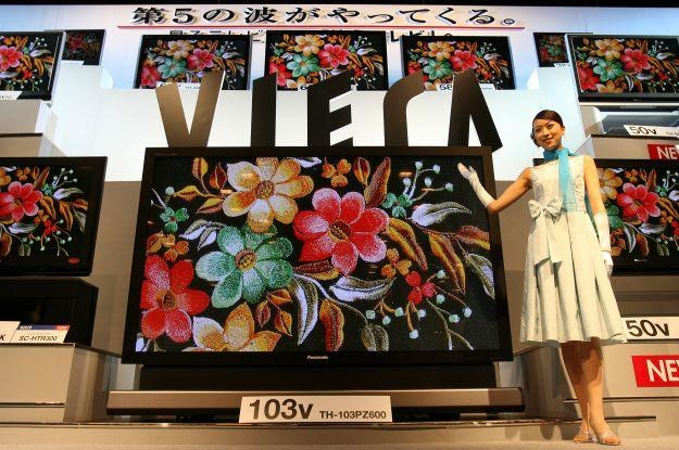 Panasonic zawsze lubił produkować telewizory o dużej przekątnej ekranu /AFP