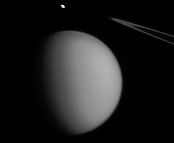 Pandora i Tytan uchwycone na jednym zdjęciu /NASA