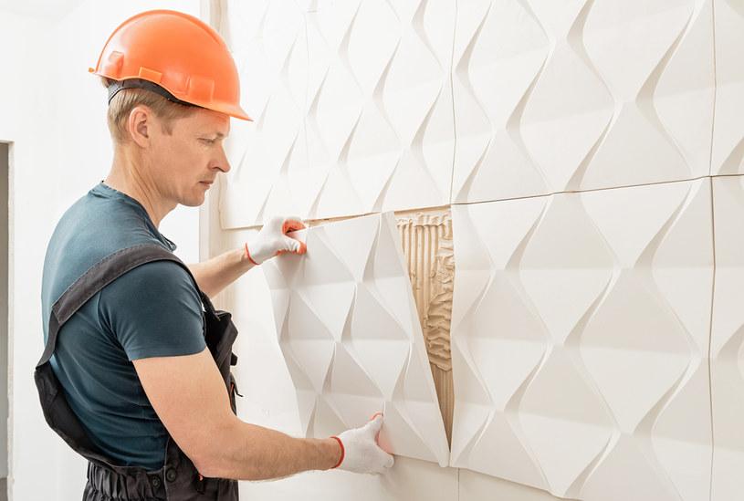 Panele 3D na ścianę mogą być wykonane z różnych materiałów /123RF/PICSEL