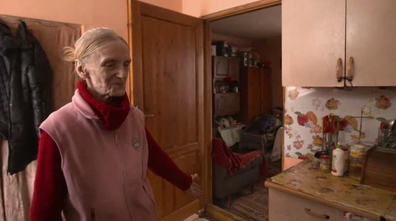 Pani Halina zaprosiła syna i synową do swojego domu /Polsat