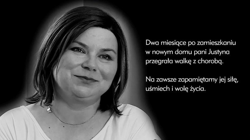 Pani Justyna zmarła dwa miesiące po przeprowadzce do nowego mieszkania /Polsat