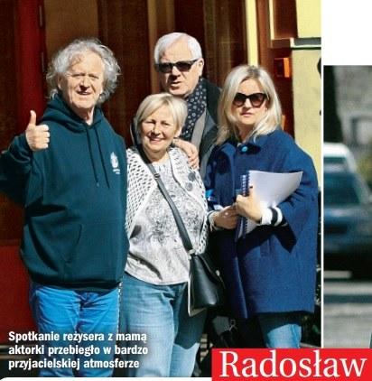 Pani Krystyna oraz Radosław Piwowarski chętnie pozowali do zdjęć /Życie na gorąco