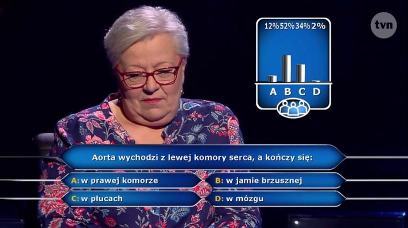 Pani Maria zaufała publiczności, dzięki czemu wygrała 75 tysięcy złotych /materiały prasowe