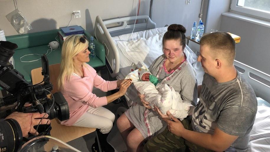 Pani Paulina razem z córką i partnerem /Anna Kropaczek /RMF FM