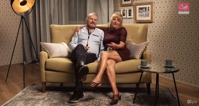 """Pani Wiesia z """"Sanatorium miłości"""" ze swoim partnerem w 8. odcinku programu """"Nieoczekiwana zmiana"""" /Polsat Cafe /materiały prasowe"""