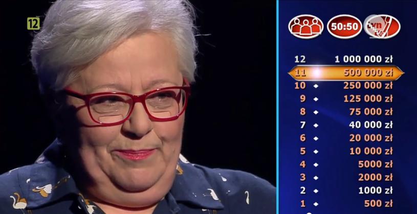 Pania Maria cieszyła się, kiedy wygrała 500 tysięcy złotych /TVN