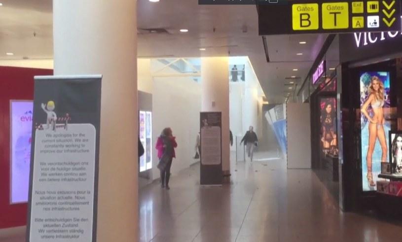 Panika na lotnisku w Brukseli /AP