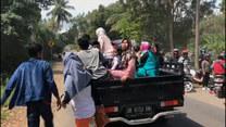 Panika na ulicach wyspy Lombok podczas trzęsienia ziemi