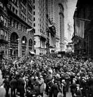 """Panika przed giełdą na Wall Street w """"czarny czwartek /Encyklopedia Internautica"""