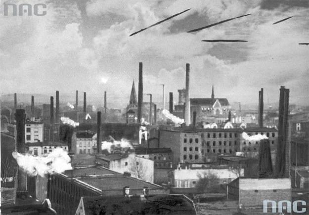 Panorama Łodzi z początku XX wieku /Z archiwum Narodowego Archiwum Cyfrowego