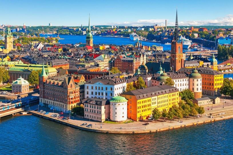 Panorama starego miasta Gamla Stan w Sztokholmie, Szwecja /123RF/PICSEL
