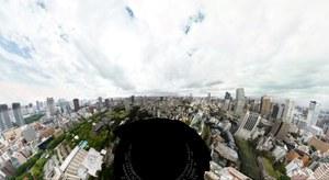 Panorama Tokio o rozdzielczości 600 000 x 300 000 pikseli