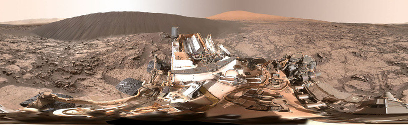 Panorama zarejestrowana ostatnio przez łazik Curiosity /NASA