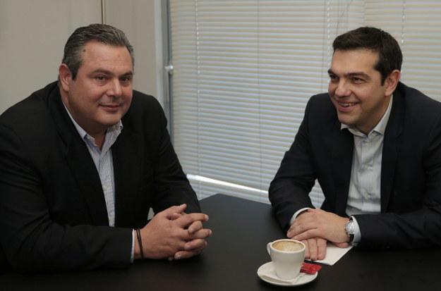 Panos Kammenos i Aleksis Cipras /LEFTERIS PITARAKIS / POOL /PAP/EPA