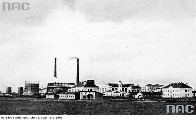 Państwowa Fabryka Związków Azotowych w Mościcach - widok ogólny /Z archiwum Narodowego Archiwum Cyfrowego