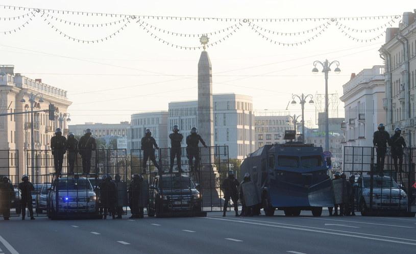 Państwowe służby w Mińsku (arch.) /PAP/EPA