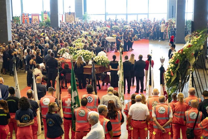 Państwowy pogrzeb ofiar katastrofy w Genui /FRANCESCO AMMENDOLA /QUIRINAL PRESS OFFICE /PAP/EPA