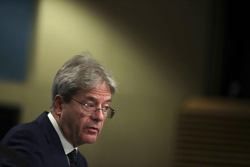 Paolo Gentiloni, unijny komisarz ds. gospodarczych /AFP