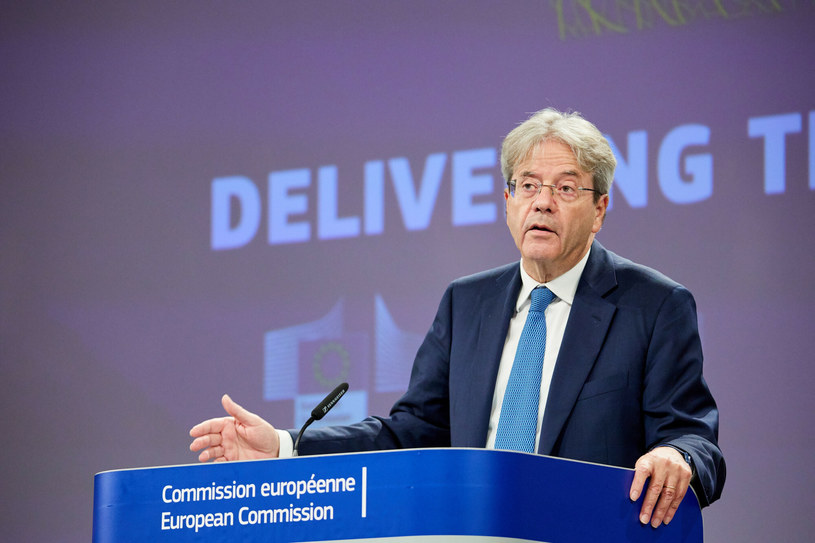 Paolo Gentiloni, unijny komisarz ds. gospodarczych. /Xinhua News /East News