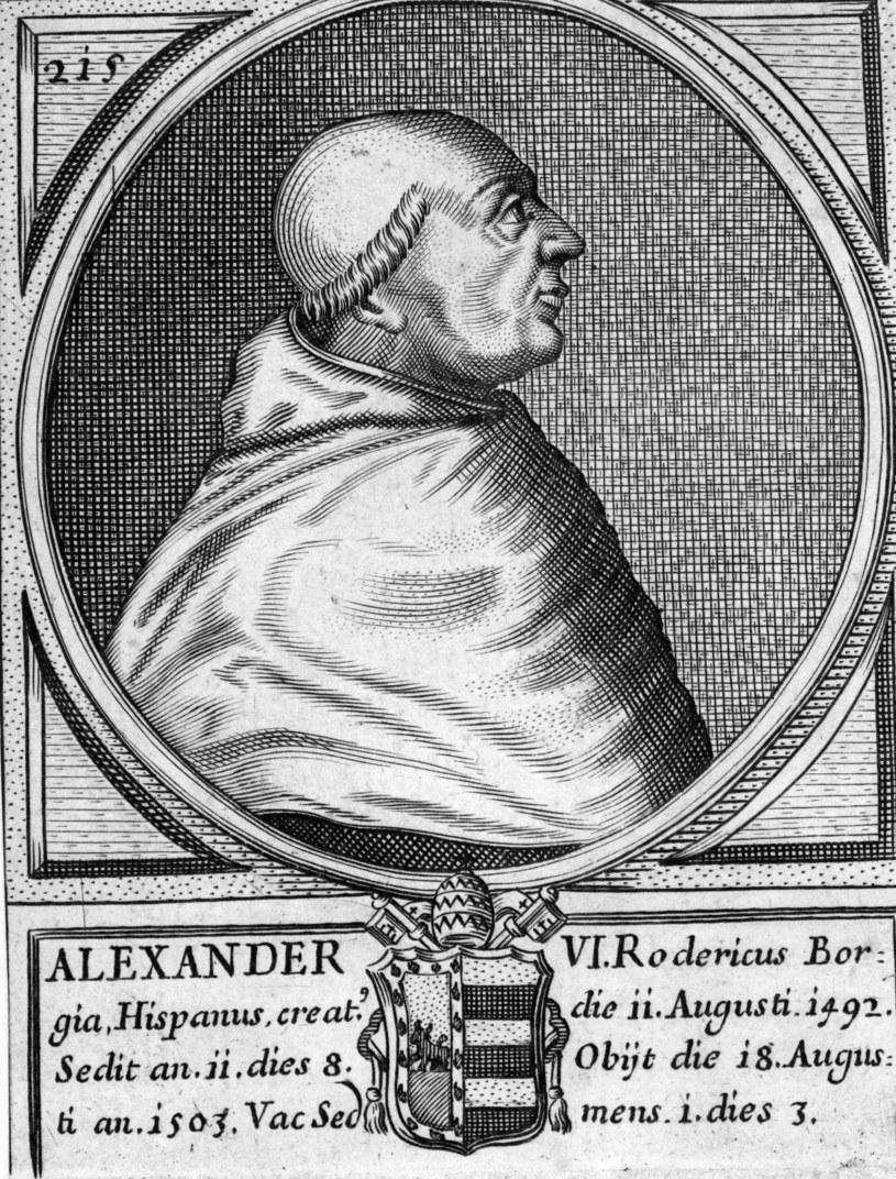 Papież Aleksander VI słynął z organizowania wielkich orgii /Getty Images/Flash Press Media