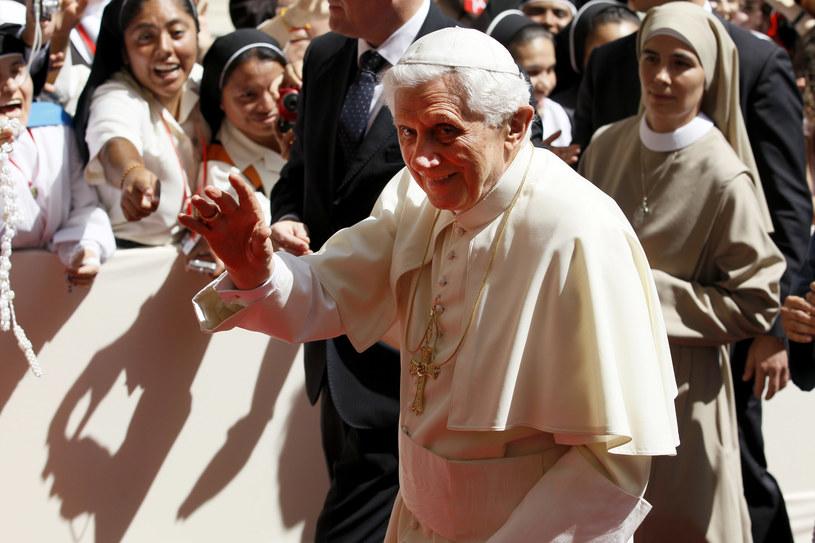 Papież Benedykt XVI podczas ŚDM w Madrycie, rok 2011 /CESAR MANSO / AFP  /AFP