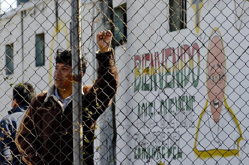 Papież był w zakładzie karnym Palmasola /PAP/EPA