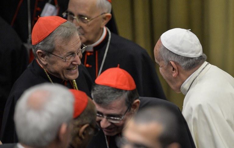 Papież Franciszek i kardynałowie /AFP