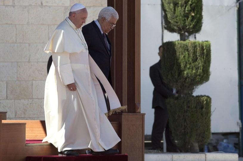 Papież Franciszek i Mahmud Abbas /PAP/EPA
