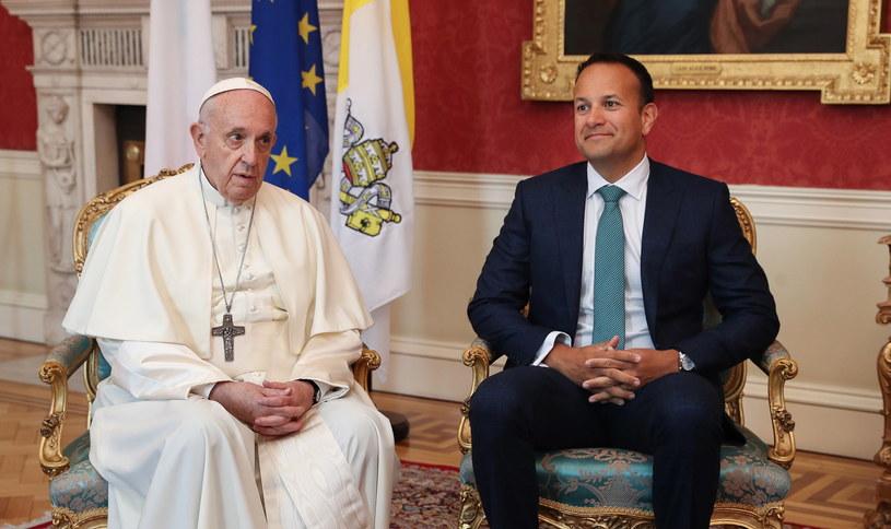 Papież Franciszek i premier Irlandii Leo Varadkar /EPA/WMOF2018/Maxwell Photography / POOL /PAP