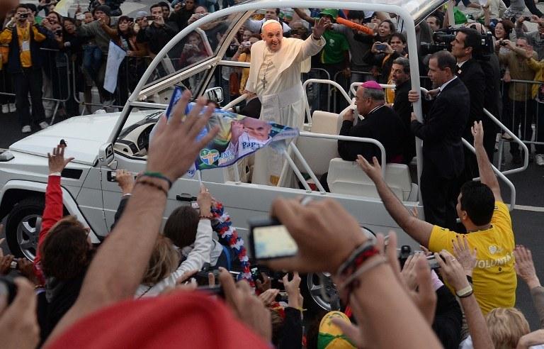 Papież Franciszek na ŚDM w Rio de Janeiro, rok 2013 /EVARISTO SA / AFP /AFP