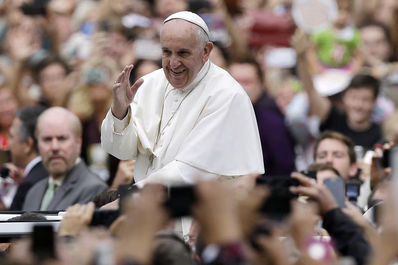 Papież Franciszek podczas pielgrzymki w USA /AFP