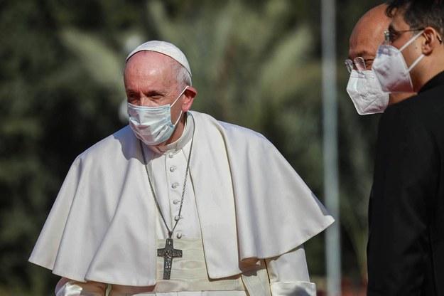Papież Franciszek podczas swojej pielgrzymki w Iraku / Ameer Al Mohammedaw /PAP/DPA
