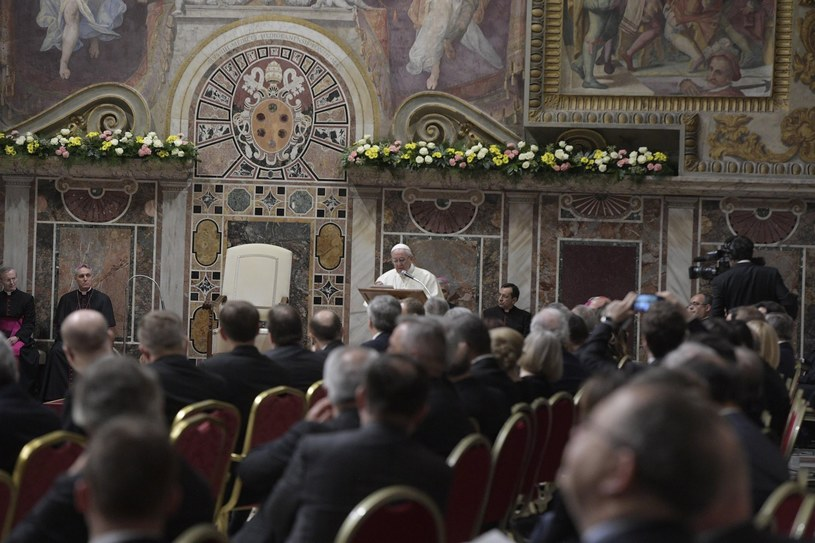 Papież Franciszek spotkał się z unijnymi przywódcami /PAP/EPA