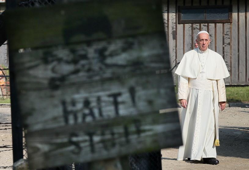 Papież Franciszek w Auschwitz /Paweł Supernak /PAP