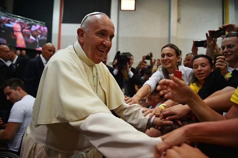 Papież Franciszek w czasie pielgrzymki do Bośni i Hercegowiny /GABRIEL BOUYS /AFP