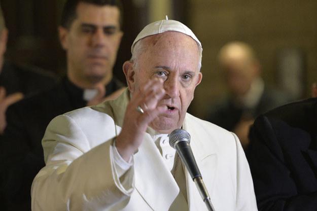 Papież Franciszek w dzielnicy Tor Bella Monaca fot. Andreas Solaro /AFP