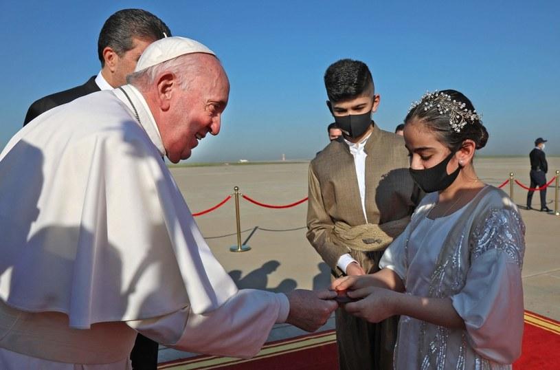 Papież Franciszek w Iraku /AFP