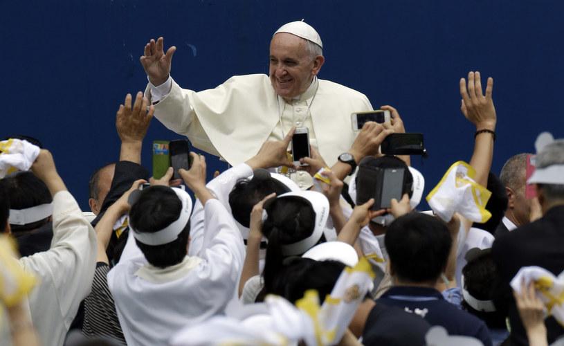 Papież Franciszek w Korei Południowej /AFP