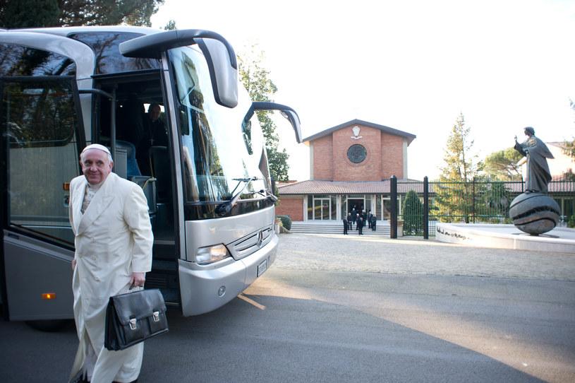 Papież Franciszek w miejscowości Ariccia /AFP
