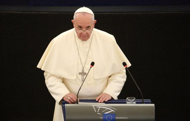 Papież Franciszek w Parlamencie Europejskim /PAP/EPA/PATRICK SEEGER /PAP/EPA