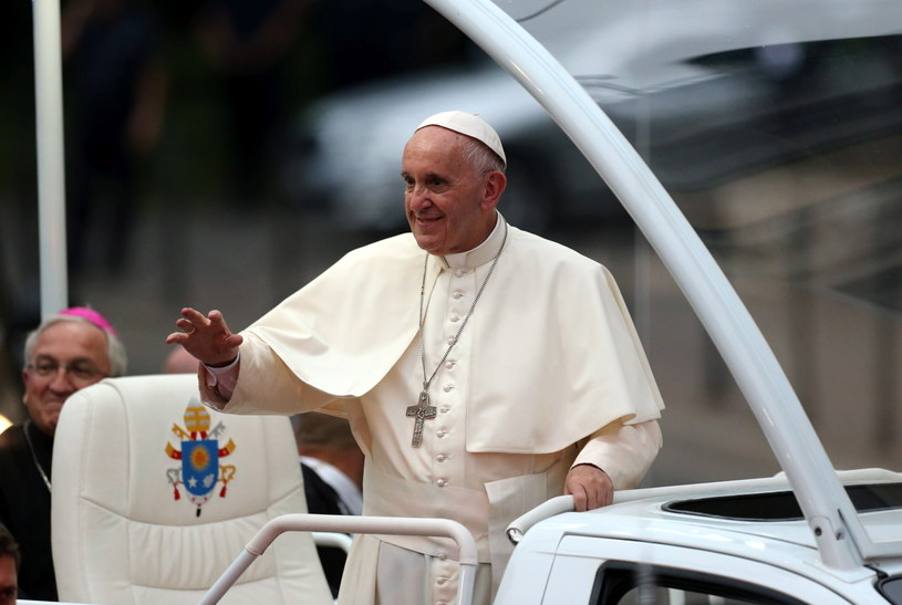 papież Franciszek w pierwszym dniu wizyty w Krakowie /Grzegorz Momot /PAP