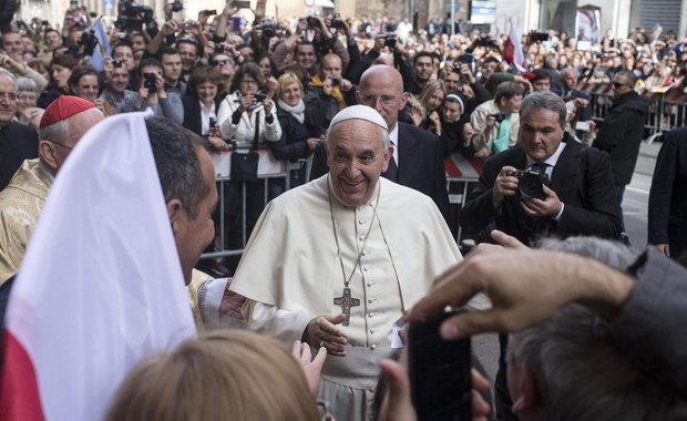 Papież Franciszek w polskim kościele w Rzymie