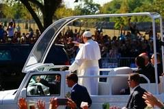 Papież Franciszek w USA. Tak powitano go w Waszyngtonie