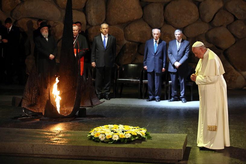 Papież Franciszek w Yad Vashem /PAP/EPA