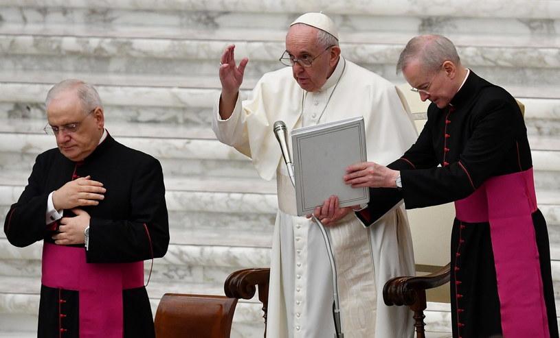 Papież Franciszek z kardynałami /ETTORE FERRARI /PAP/EPA